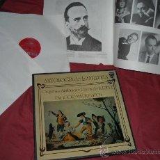 Discos de vinilo: ANTOLOGIA DE LA ZARZUELA.IGOR MARKEVITCH CAJA CON 2 LP CON LIBRETO ILUSTRADO 36 PAG.. Lote 140349801