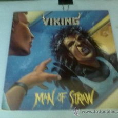 Discos de vinilo: VIKING MAN OF STRAW LP RARO 1989 METAL BLADE. Lote 28323913