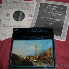 Discos de vinilo: VIVALDI LA STRAVAGANZA,OP 4 KAINEA..LOVEDAY..MARRINER CAJA 2 LP DECCA MAS LIBRETO. Lote 28328712