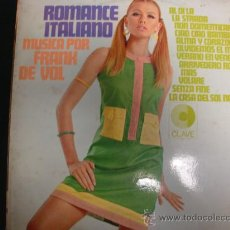 Disques de vinyle: FRANK DE VOL. ROMANCE ITALIANO. HISPAVOX 1967. Lote 28332178