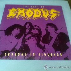 Discos de vinilo: LP EXODUS ( LESSONS IN VIOLENCE) 1992 MUSIC FOR NATIONS PRINTED IN ENGLAND (RARO DE CONSEGUIR). Lote 28341265