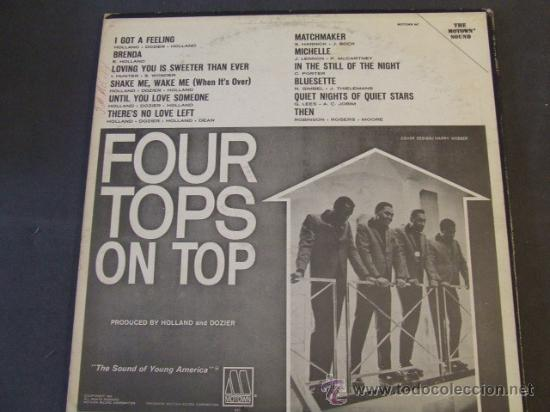 Discos de vinilo: LP FOUR TOPS ON TOP 1965 ORIGINAL USA SOUL VG++ - Foto 2 - 28347430
