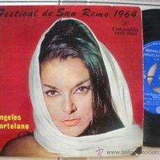 Discos de vinilo: ANGELES HORTELANO EP SPAIN 1964 EUROVISION SANREMO GIGLIOLA CINQUETTI COVER. Lote 28382384