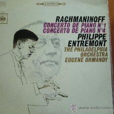 Discos de vinilo: LP RACHMANINOFF: CONCIERTO DE PIANO Nº 1 Y Nº 4. PHILIPPE ENTREMONT.. Lote 28356540