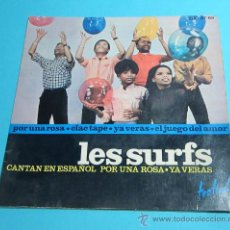 Discos de vinilo: CARÁTULA DISCO LES SURFS. SE REGALA EL DISCO QUE ESTÁ DEFECTUOSO. Lote 28397254