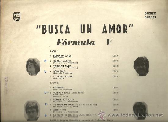 Discos de vinilo: FORMULA V LP SELLO PHILIPS EDITADO EN CHILE. - Foto 2 - 28368614