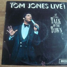 Discos de vinilo: TOM JONES LIVE!.-AT THE TALK OF THE TOWN.-EDITA COLUMBIA.-AÑO 1967.-. Lote 28371336