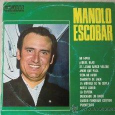 Discos de vinilo: LP DE MANOLO ESCOBAR (1.970) CÍRCULO DE LECTORES, ORLADOR.. Lote 28378536