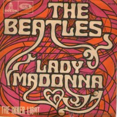 Discos de vinilo: THE BEATLES - SINGLE VINILO 7 - LADY MADONNA + THE INNER LIGHT - EDITADO EN FRANCIA - 1963. Lote 28403161