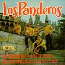 """Discos de vinilo: LOS PANDEROS - EP-SINGLE VINILO 7"""" - EDITADO EN ESPAÑA - GUANTANAMERA + 3 - FONAL 1971.. Lote 28403371"""