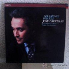 Discos de vinilo: JOSÉ CARRERAS - SOLAMENTE UNA VEZ - LP PROMOCIONAL PHILIPS 412 594-1 - 1985. Lote 28412213