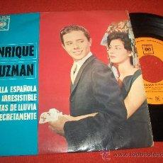 Discos de vinilo: ENRIQUE GUZMAN MANTILLA ESPAÑOLA / IRRESISTIBLE ..+2 7