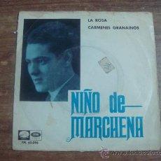 Discos de vinilo: NIÑO DE MARCHENA.-LA ROSA.-CARMENES GRANAINOS.-EMI.-AÑO 1964.-. Lote 28424220