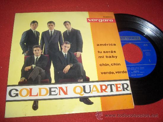 """GOLDEN QUARTER AMERICA / TUS SERAS MI BABY ..+2 7"""" EP 1964 VERGARA (Música - Discos de Vinilo - EPs - Solistas Españoles de los 50 y 60)"""