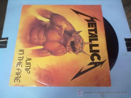 Discos de vinilo: LP METALLICA JUMP IN THE FIRE. LP HEAVY METAL ORIGINAL. 1983 - Foto 2 - 28305588