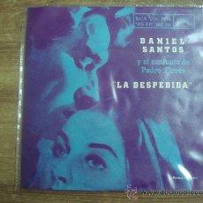 Discos de vinilo: DANIEL SANTOS Y EL CONJUNTO DE PEDRO FLORES.-LA DESPEDIDA.-RCA.-CARATULA PLASTIFICADA.-. Lote 28435383