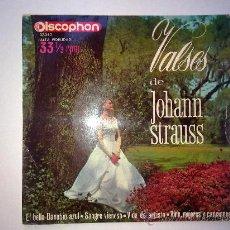 Discos de vinilo: VALSES DE JOHANN STRAUSS, DISCOPHON 1963, 33RPM. Lote 28444428