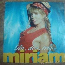 Discos de vinilo: MIRIAM.-UN,DOS,TRES.-CBS-SONY.-AÑO 1991.-. Lote 28444948