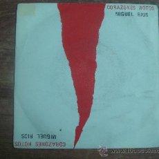 Discos de vinilo: MIGUEL RIOS.-CORAZONES ROTOS.-POLYGRAM.-AÑO 1989.-. Lote 28444954