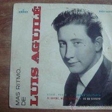 Discos de vinilo: LUIS AGUILE.-MAS RITMO DE.-VERDE VERDE,CIUDAD SOLITARIA.-GRAMOFON-ODEON.-AÑO 1964.-. Lote 28445540