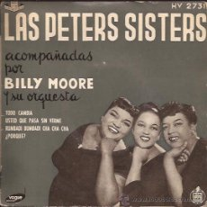 Discos de vinilo: EP-PETERS SISTERS-HISPAVOX 2731-TRI CENTER-. Lote 28448966