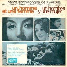 Discos de vinilo: UN HOMBRE Y UNA MUJER-EP BSO DEL FILM. Lote 28450599