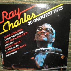 Discos de vinilo: RAY CHARLES - 20 GREATEST HITS - EDICION ALEMANA - HAPPY BIRD 1979. Lote 28466132