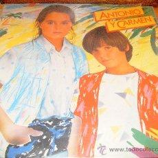 Discos de vinilo: ANTONIO Y CARMEN,LP,1982.. Lote 28454642