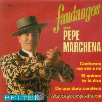 PEPE MARCHENA - FANDANGOS - 1969 (Música - Discos de Vinilo - EPs - Flamenco, Canción española y Cuplé)