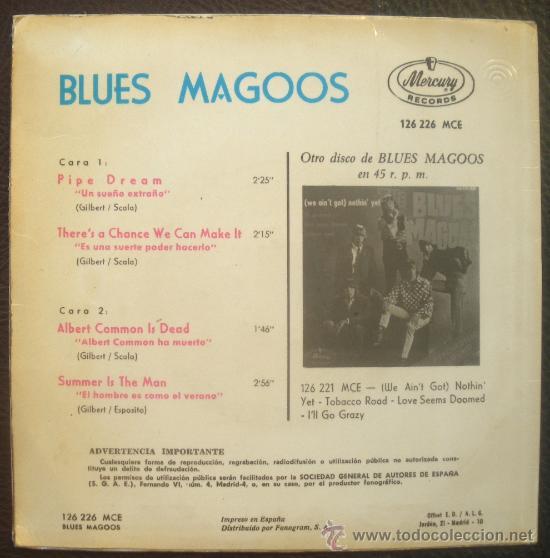 Discos de vinilo: BLUES MAGOOS EP SPAIN 1967 PIPE DREAM - PSYCH GARAGE USA - Foto 2 - 28462461