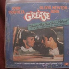 Discos de vinilo: BSO GREASE - YOU'RE THE ONE THAT I WANT - ALONE AT A DRIVE. Lote 28467036