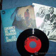 Discos de vinilo: ELS SAPASTRES EP+HOJA PROM. ORGANO HAMMOND DISCOS ALS 4 VENTS JORDI BATISTE SPAIN. Lote 28482144