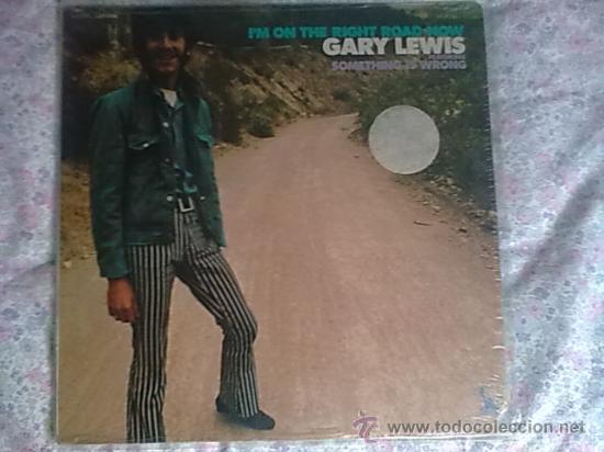LP GARY LEWIS I,M ON THE RIGHT ROAD NOW 1969 DISCO Y PORTADA EXCELENTE/NM ORIGINAL USA (Música - Discos - LP Vinilo - Pop - Rock Extranjero de los 50 y 60)