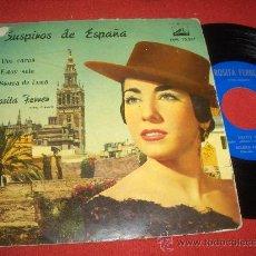 """Discos de vinilo: ROSITA FERRER SUSPIROS DE ESPAÑA / DOS CARAS ..+2 7"""" EP 1959 LA VOZ DE SU AMO. Lote 28539113"""