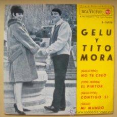 Discos de vinilo: GELU CON TITO MORA EP -RCA-20770 - SPAIN 1964 - UMBERTO BINDI - CHICA YE-YE ESPAÑOLA. Lote 28545064