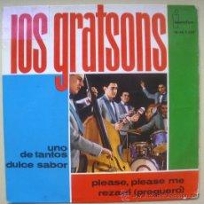 Discos de vinilo: GRATSONS EP SPAIN 1964 - SPANISH BEAT - BEATLES COVER - IBEROFON-1237 - PLEASE PLEASE ME. Lote 28546889