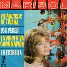 Discos de vinilo: MARISOL - EP SINGLE VINILO MULTICOLOR 7'' - VILLANCICOS DE TRIANA + 3 - EDITADO ESPAÑA - ZAFIRO 1963. Lote 28551324