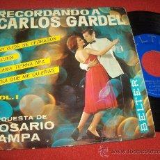 Discos de vinilo: ORQUESTA DE ROSARIO PAMPA SUS OJOS SE CERRARON / VOLVER ..+2 7