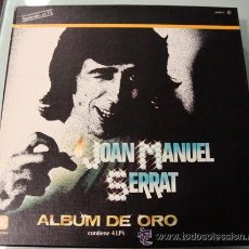 Discos de vinilo: JOAN MANUEL SERRAT - ALBUM DE ORO - CAJA 4 LPS. Lote 28555642