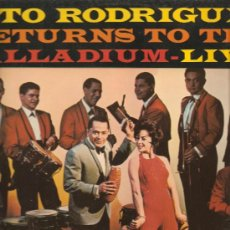 Discos de vinilo: LP SALSA & LATIN JAZZ - TITO RODRIGUEZ RETURNS TO THE PALLADIUM M-LIVE. Lote 183429347