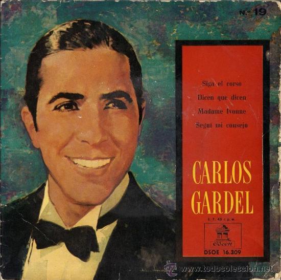 CARLOS GARDEL - SIGA EL CORSO... 1959 (Música - Discos de Vinilo - EPs - Grupos y Solistas de latinoamérica)