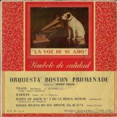 Discos de vinilo: ORQUESTA BOSTON PROMENADE - MASSENET, HAENDEL, LIEBESTRAUM, DVORAK. Lote 28569691