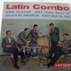 Discos de vinilo: LATIN COMBO - DAME FELICIDAD + 3 EP 1963. Lote 28592692