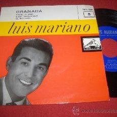 """Discos de vinilo: LUIS MARIANO GRANADA /PARIS TE AMO ..+2 7"""" EP 1958 LA VOZ DE SU AMO EXCELENTE ESTADO. Lote 28598003"""