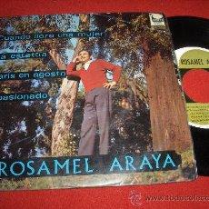 Discos de vinilo: ROSAMEL ARAYA & LUCIO MILENA CUANDO LLORA UNA MUJER / LA ESTATUA ..+2 7