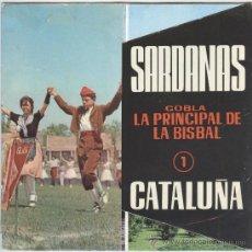 Discos de vinilo: SARDANES (EP) 1963 - COBLA LA PRINCIPAL DE LA BISBAL - DISCOPHON (CON DESPLEGABLE). Lote 28605925