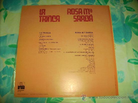 Discos de vinilo: L.P.: LA TRINCA - ROSA Mª SARDÀ - ARIOLA,1979 - - Foto 2 - 28632443