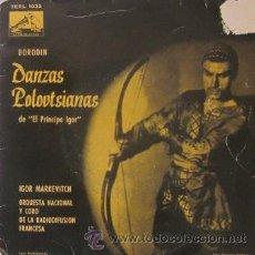 Discos de vinilo: BORODIN - DANZAS POLOVTSIANA DE *EL PRÍNCIPE IGOR*. Lote 28639707