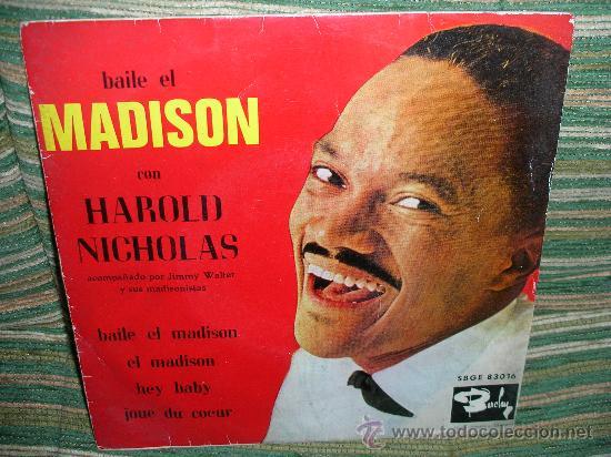 HAROLD NICHOLAS EP - BAILE EL MADISON - ORIGINAL ESPAÑA - BARCLAY 1962 MONO. (Música - Discos de Vinilo - EPs - Rock & Roll)