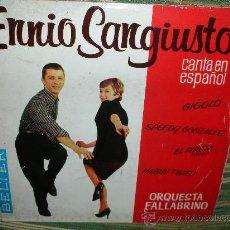 Discos de vinilo: ENNIO SANGIUSTO EP - SPEEDY GONZALES - BELTER 1962 DISCO MUY NUEVO (5).. Lote 51015654